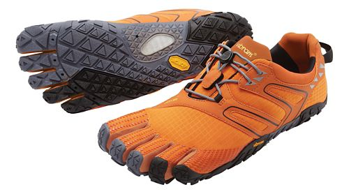 Mens Vibram FiveFingers V-Trail Running Shoe - Orange/Grey/Black 43