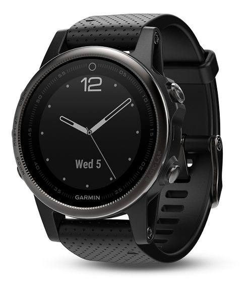 Garmin fenix 5S Sapphire GPS Watch Monitors - Black/Black