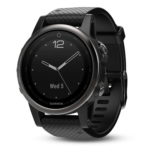 Garmin fenix 5S Sapphire GPS Watch Monitors - Black/Black