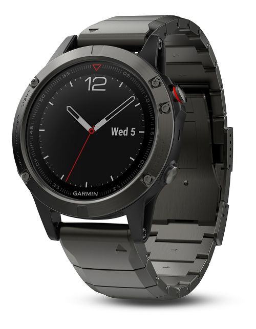 Garmin fenix 5 Sapphire GPS Watch Monitors - Slate Grey/Metal