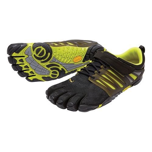 Mens Vibram FiveFingers V-Train Cross Training Shoe - Black/Green 47