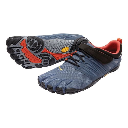 Mens Vibram FiveFingers V-Train Cross Training Shoe - Indigo/Black/Blue 41