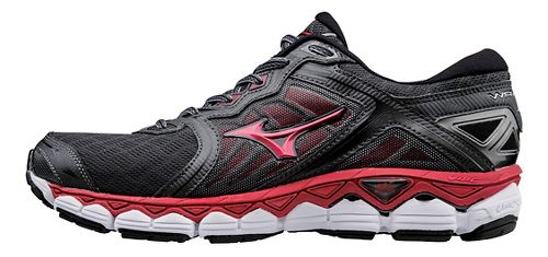 Mens Mizuno Wave Sky Running Shoe - Black/Red 11.5