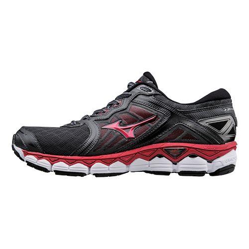 Mens Mizuno Wave Sky Running Shoe - Black/Red 9.5