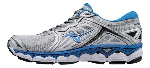 Mens Mizuno Wave Sky Running Shoe - Silver/Blue 8.5