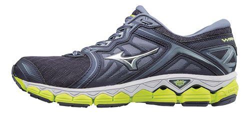 Mens Mizuno Wave Sky Running Shoe - Silver/Blue 12