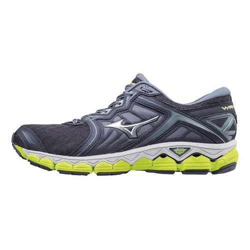 Mens Mizuno Wave Sky Running Shoe - Grey/Lime 8