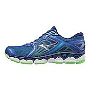 Mens Mizuno Wave Sky Running Shoe - Silver/Blue 7