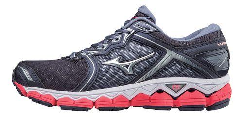 Womens Mizuno Wave Sky Running Shoe - Grey/Pink 10.5