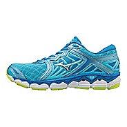 Womens Mizuno Wave Sky Running Shoe - Aquarius/Silver 10