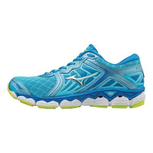 Womens Mizuno Wave Sky Running Shoe - Aquarius/Silver 6