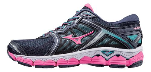 Womens Mizuno Wave Sky Running Shoe - Peacoat/Pink 6.5