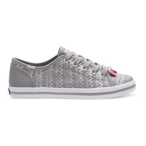 Keds Kickstart Charm Walking Shoe - Silver 6Y