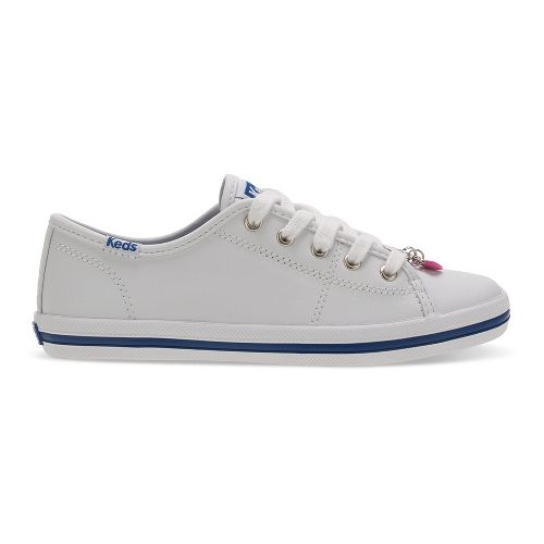 Keds Kickstart Charm Walking Shoe - White Leather 2Y