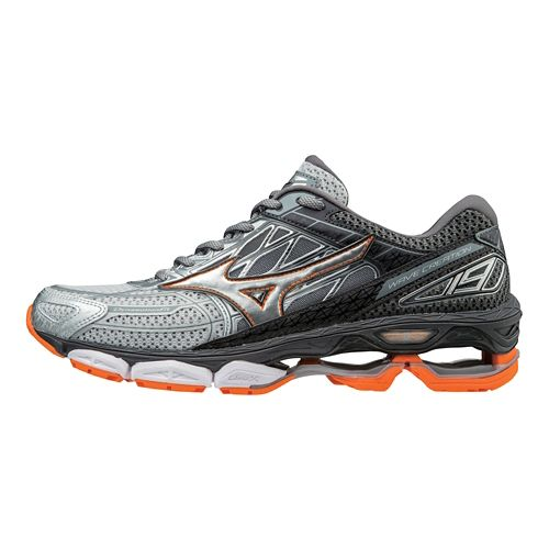 Mens Mizuno Wave Creation 19 Running Shoe - Silver/Diamond 11.5