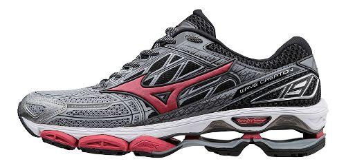 Mens Mizuno Wave Creation 19 Running Shoe - Grey/Red 12.5