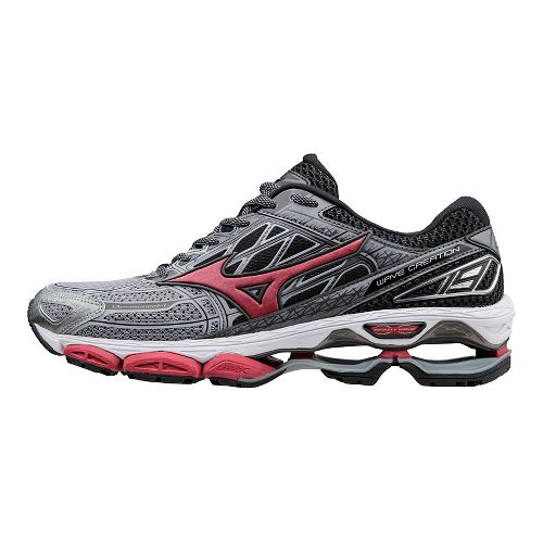 Mens Mizuno Wave Creation 19 Running Shoe - Grey/Red 9.5