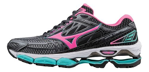 Womens Mizuno Wave Creation 19 Running Shoe - Black/Pink 11