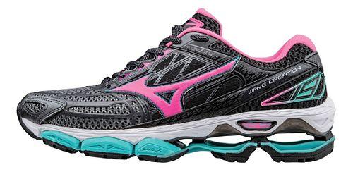 Womens Mizuno Wave Creation 19 Running Shoe - Black/Pink 7.5