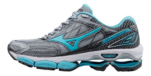 Womens Mizuno Wave Creation 19 Running Shoe - Grey/Blue 10.5