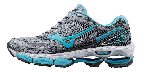 Womens Mizuno Wave Creation 19 Running Shoe - Grey/Blue 9.5