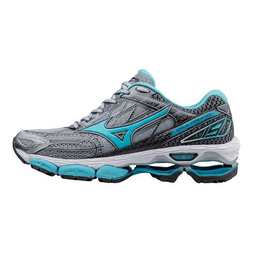 Womens Mizuno Wave Creation 19 Running Shoe - Grey/Blue 10.5