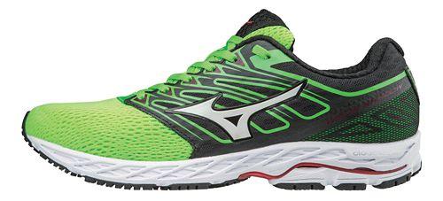 Mens Mizuno Wave Shadow Running Shoe - Green Slime/White 11