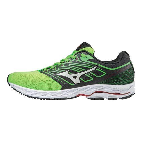 Mens Mizuno Wave Shadow Running Shoe - Green Slime/White 8
