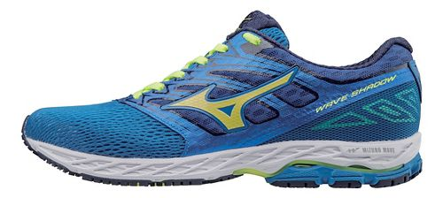 Mens Mizuno Wave Shadow Running Shoe - Blue/Yellow 11.5