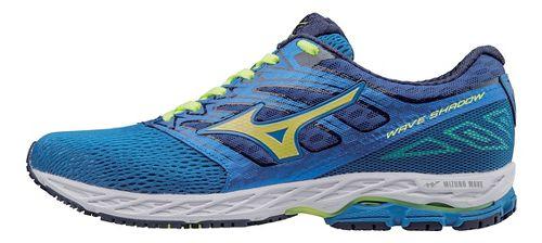 Mens Mizuno Wave Shadow Running Shoe - Blue/Yellow 13