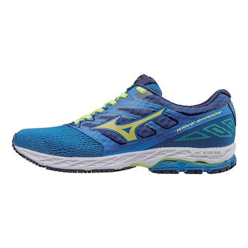 Mens Mizuno Wave Shadow Running Shoe - Blue/Yellow 9.5