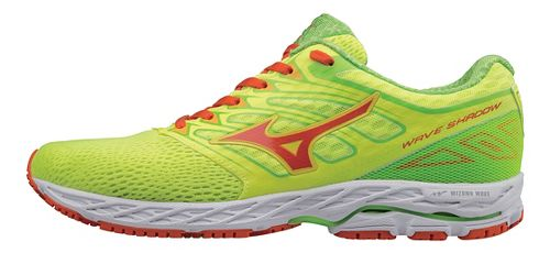 Mens Mizuno Wave Shadow Running Shoe - Yellow/Red Orange 10.5