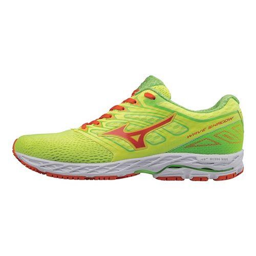 Mens Mizuno Wave Shadow Running Shoe - Yellow/Red Orange 7.5