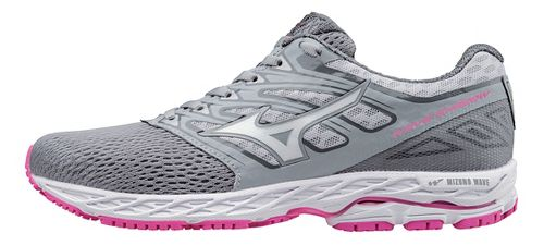 Womens Mizuno Wave Shadow Running Shoe - Light Grey/White 9