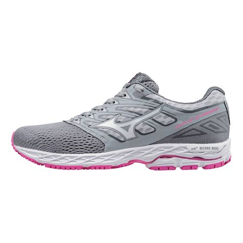 Womens Mizuno Wave Shadow Running Shoe - Light Grey/White 7.5