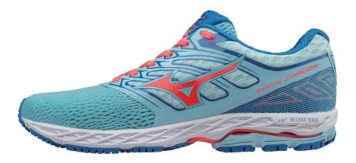 Womens Mizuno Wave Shadow Running Shoe - Blue/Coral 10