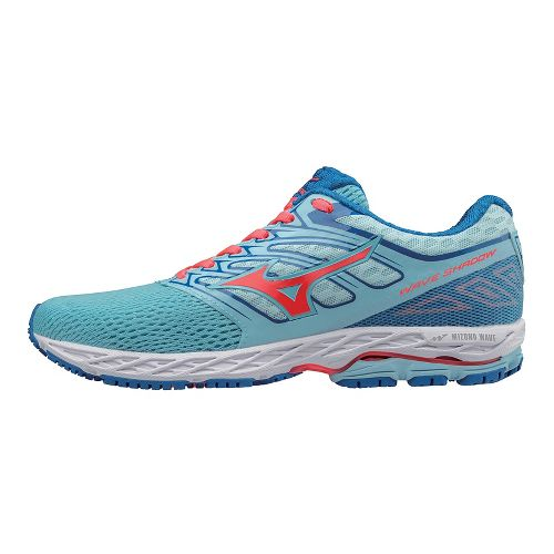 Womens Mizuno Wave Shadow Running Shoe - Blue/Coral 6