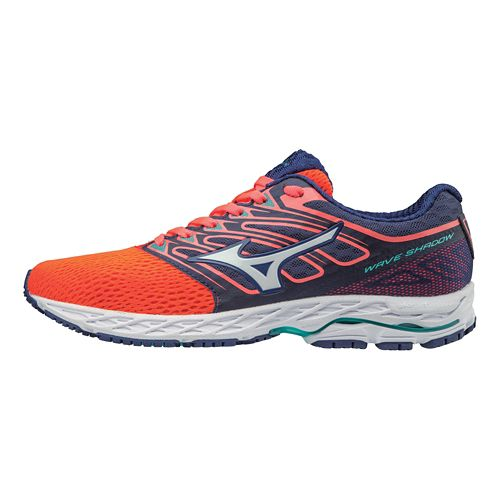 Womens Mizuno Wave Shadow Running Shoe - Fiery Coral/White 6