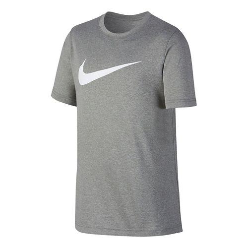 Nike Boys Dry Swoosh Solid Short Sleeve Technical Tops - University Red/Black YM