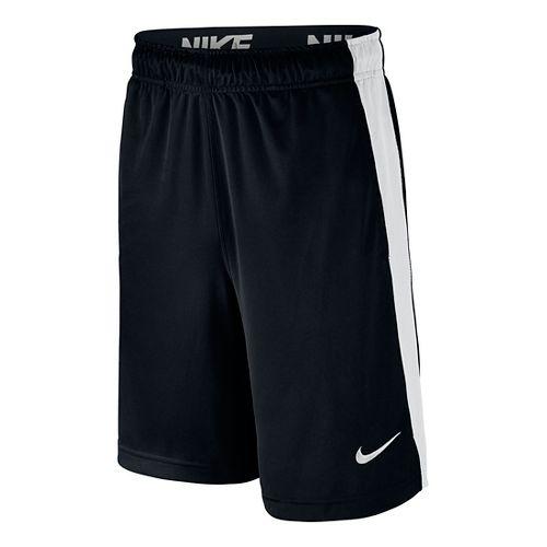 Nike Boys Dry Fly Shorts - Black/White YM