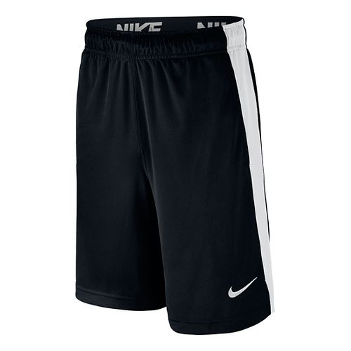 Nike Boys Dry Fly Shorts - Black/White YS