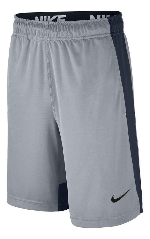 Nike Boys Dry Fly Shorts - Wolf Grey/Obsidian YM