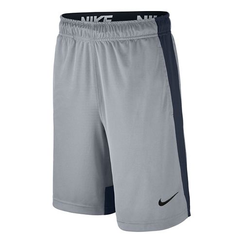 Nike Boys Dry Fly Shorts - Wolf Grey/Obsidian YXL