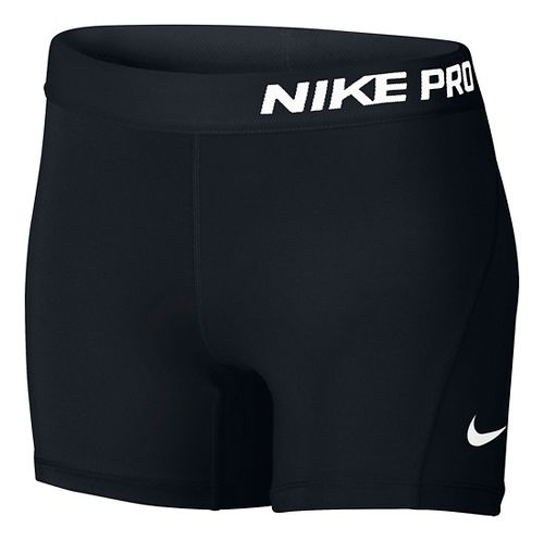 Nike Girls Pro Boy Compression & Fitted Shorts - Black YS