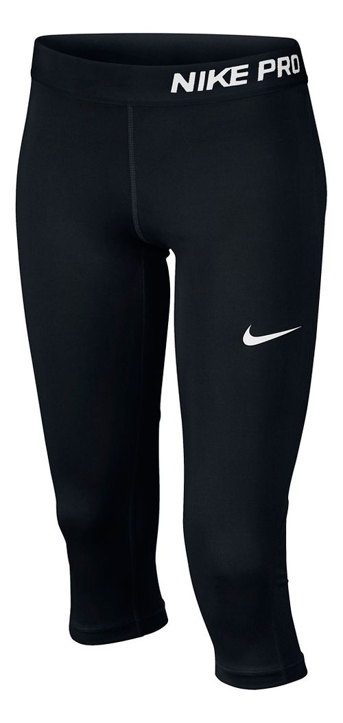 Nike Girls Pro Capri Pants - Black YL