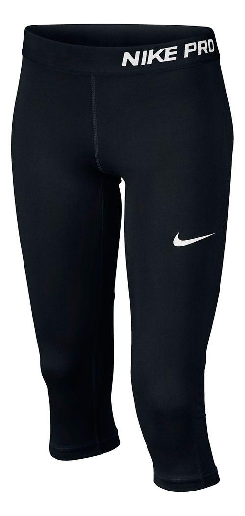 Nike Girls Pro Capri Pants - Black YXL