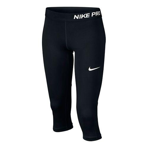 Nike Girls Pro Capri Pants - Black YL