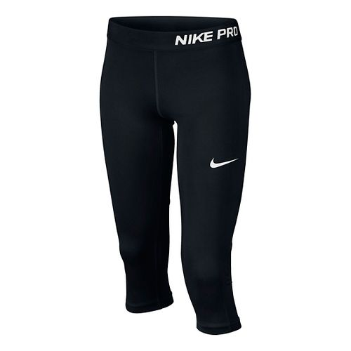 Nike Girls Pro Capri Pants - Black YS