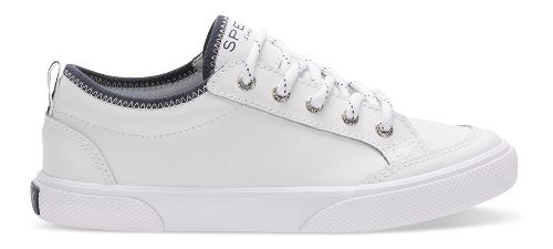 Boys Sperry Deckfin Casual Shoe - White Leather 5.5Y