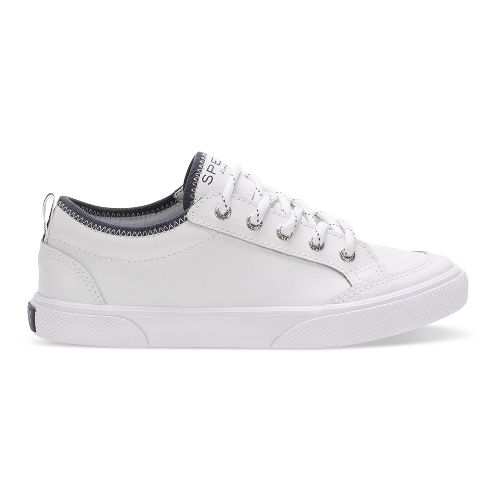 Boys Sperry Deckfin Casual Shoe - White Leather 6Y